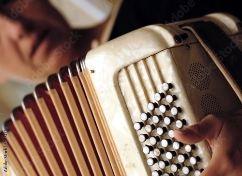 Obraz na plátne accordéon et son accordéoniste