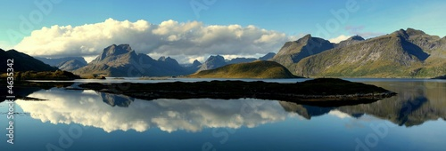 Garden Poster Scandinavia Lofoten Panorama Selfjord