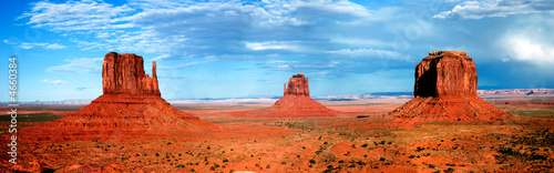 Spoed Foto op Canvas Blauw monument valley