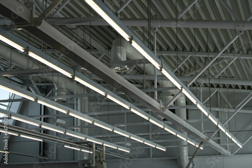 Fotografie, Obraz  factory ceiling lights