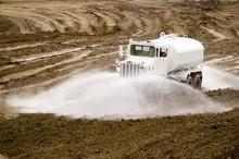 Construction Truck Spraying Wa...