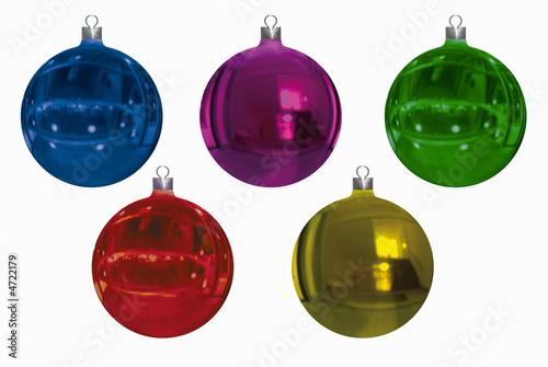 Bolas y Adornos navidad Canvas Print