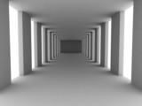 Fototapeta Fototapety do przedpokoju - einfacher korridor