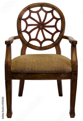 Printed kitchen splashbacks Fairytale World Traditional Style Accent Chair in Cherry Wood Trim