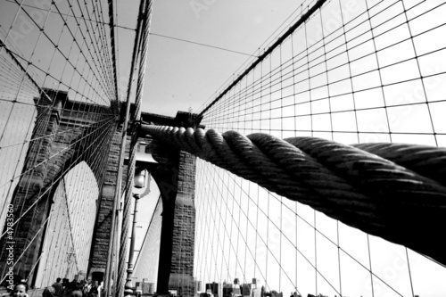Wires on the Brooklyn Bridge