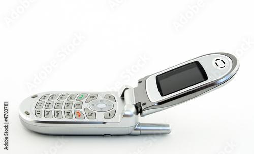 Vászonkép Open clamshell cell phone