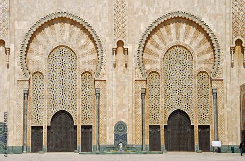 Fotografia, Obraz  Fachada de la mezquita Hasan II
