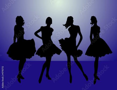 Poster Affiche vintage girls