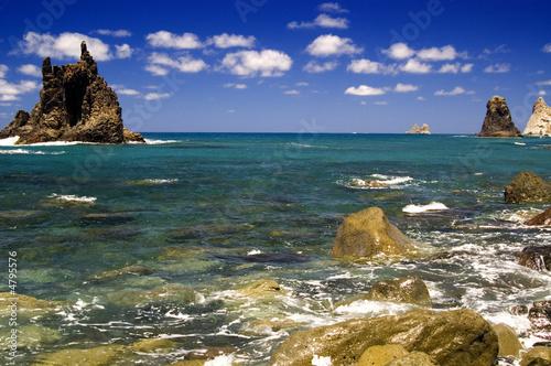 Foto-Schiebegardine Komplettsystem - paisaje marino