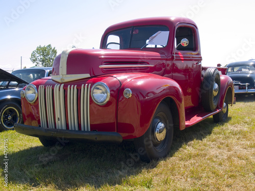 Deurstickers Oude auto s old pickup truck