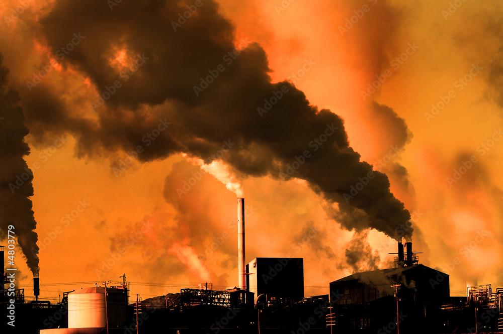 Fototapeta Pollution in the Air