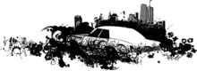 Cityscape Car Illustration