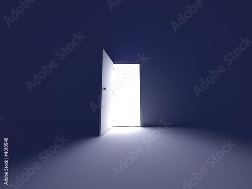 Fotografie, Tablou  Erleuchtete Tür