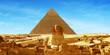 canvas print picture Great Sphinx of Giza - panorama