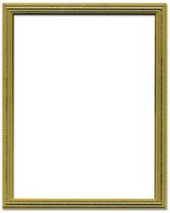 Decorative gold empty picture frame border design