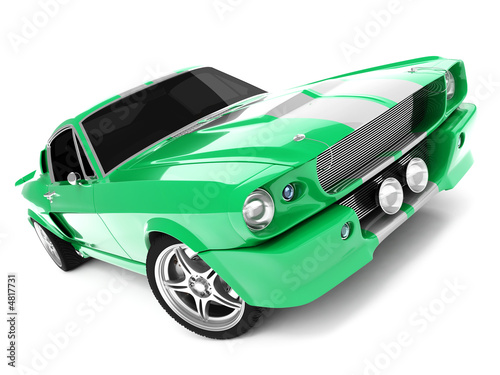 Fotografía Green Classical Sports Car