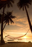 Relaxing hammock sunset
