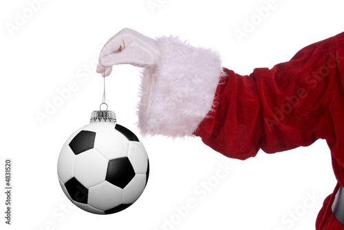 Photo  Santa Claus with soccer ornament