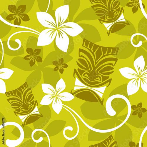 Fotografie, Obraz  Seamless Luau Tiki Pattern