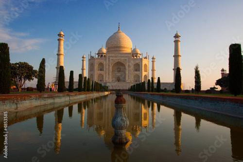 Stickers pour porte Delhi Taj Mahal sunrise