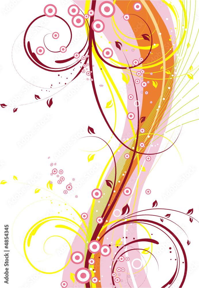 Doppelrollo mit Motiv - Floral background
