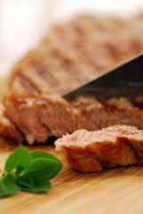 Fototapeta Lew Grilled steak