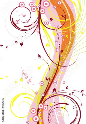 Doppelrollo mit Motiv - Floral background (von japonka)