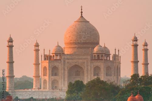 Stickers pour portes Delhi Taj Mahal sunset glow