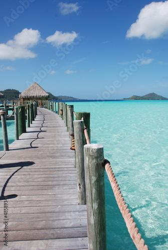 Foto-Kissen - Ponte nel mare blu