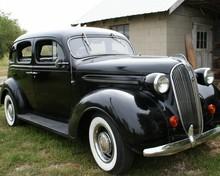 1937 Black Plymouth