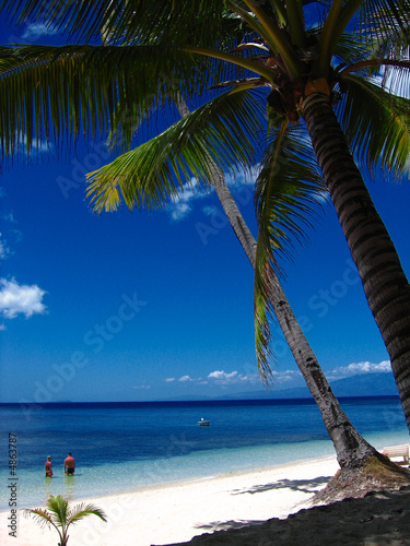 Foto-Schiebegardine Komplettsystem - Tropical beach paradise