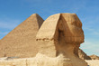 Leinwandbild Motiv sphinx and pyramid - egypt