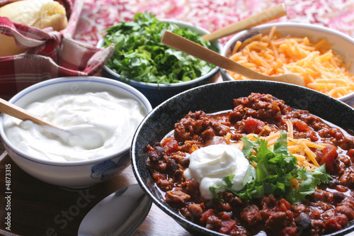 Canvas Print Chili & toppings