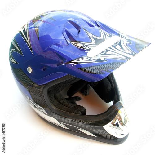 casque bleu à visière
