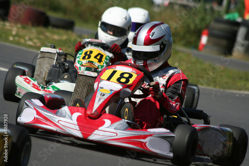 Photo sur Aluminium Motorise Kart Race Closeup