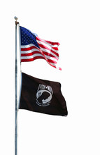 Flags Of America And American POW-MIA