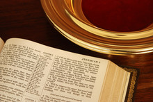 Bible And Collection Plate