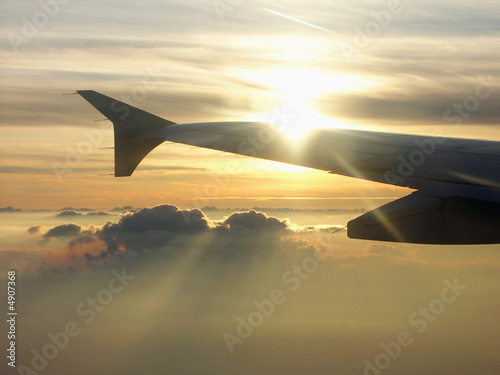 Fotografia  Aircraft Sunset
