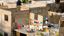 Laundry Line In Impoverished T...