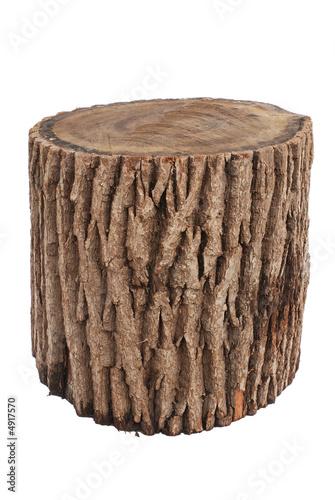 Foto auf Leinwand Brennholz-textur oak stump