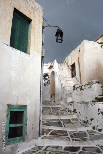 Fototapety, obrazy: Traditional view of a tradtional greel island village. Paros, Gr