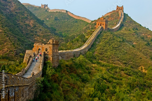 Photo sur Toile Muraille de Chine Bold walk