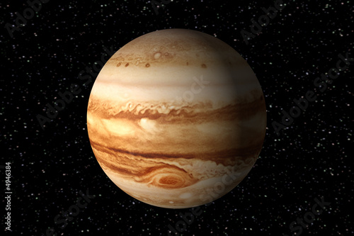 3d render of jupiter Canvas-taulu
