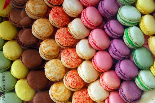 Foto op Canvas Macarons macarons délicieux