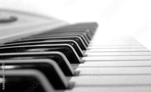 Music keyboard Canvas Print
