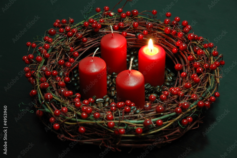 Fototapeta Advent wreath