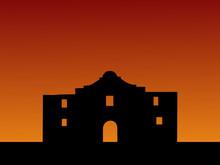 The Alamo At Sunset