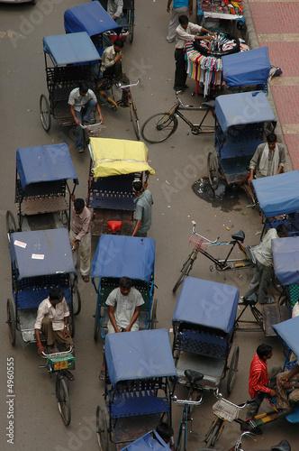 Fotobehang Delhi Taxis à Delhi
