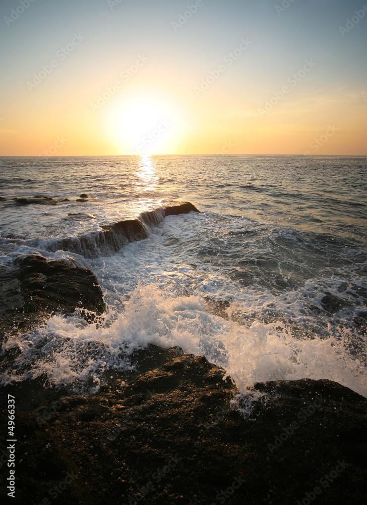 Foto-Schiebegardine Komplettsystem - Indian ocean