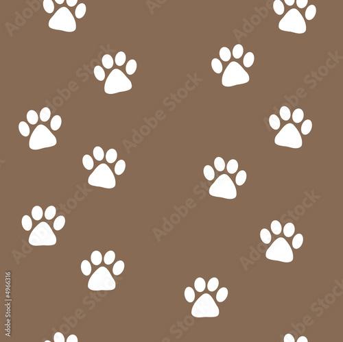 einzelne bedruckte Lamellen - animal tracks seamless pattern (von mark yuill)